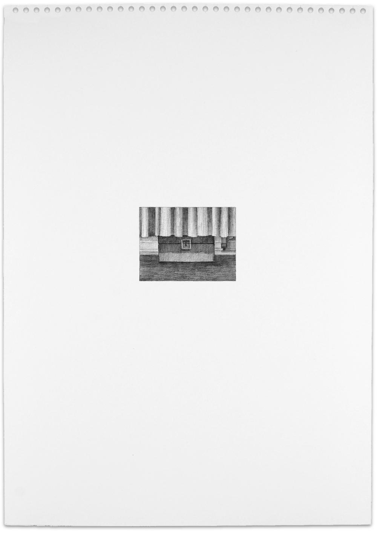 Secret (lock box), 2013,16.5 x 11.5, graphite on paper