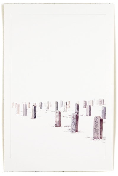 Cemetery, 2012, 12 x 8, watercolor on paper