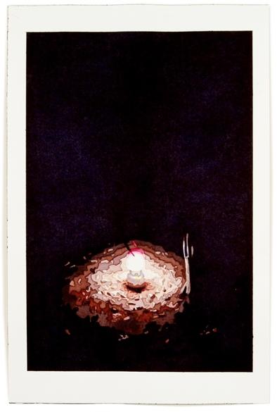 Lantern, 2012, 12 x 8, watercolor on paper