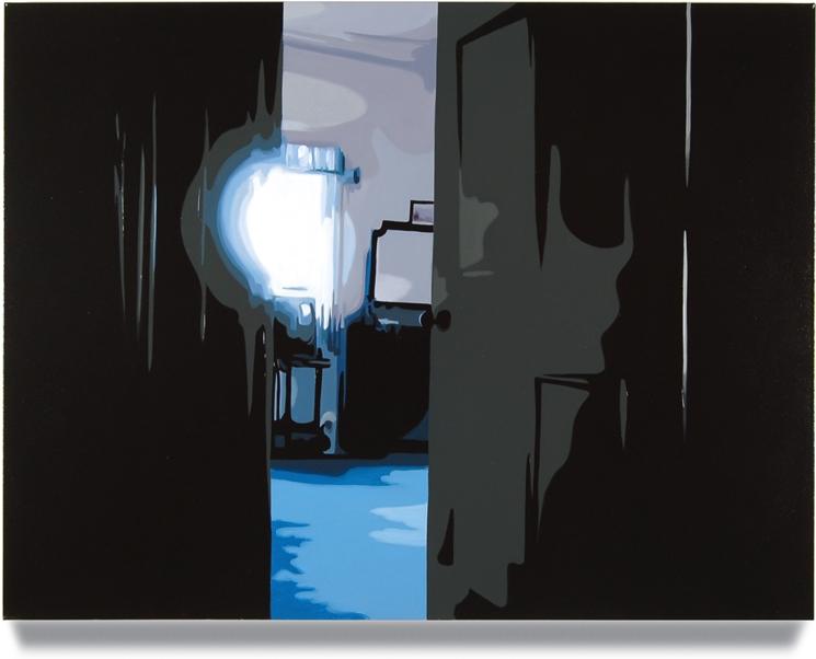 Bedroom Door,2012, 32 x 40, Oil on canvas