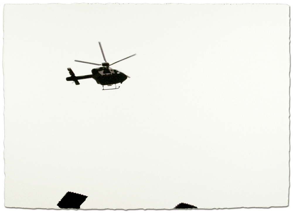 Helicopter   29 x 41, Watercolor on paper