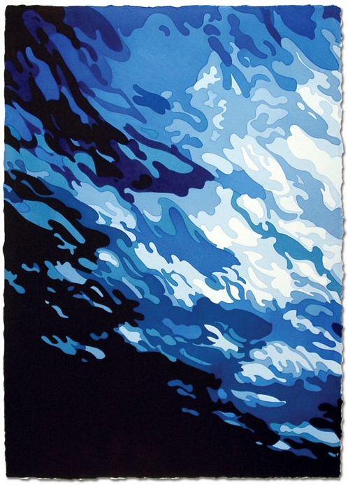 Underwater   41 x 29, Watercolor on paper