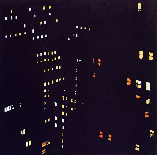 New Amsterdam No. 3, 2014, 12 x 12, Hand painted aquatint