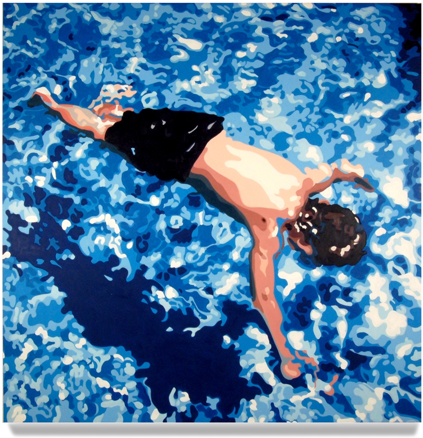 Floating Child, 2008,73 x 73, Oil on canvas