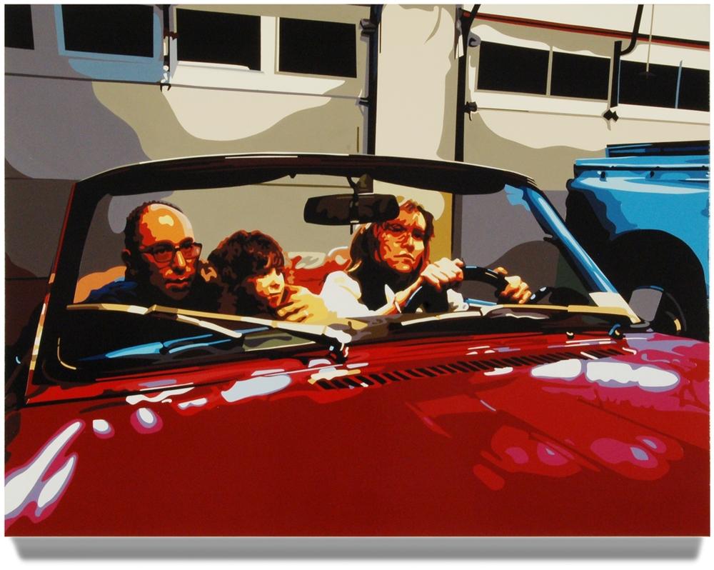 Family2008, 32x 43, Oil enamel on canvas