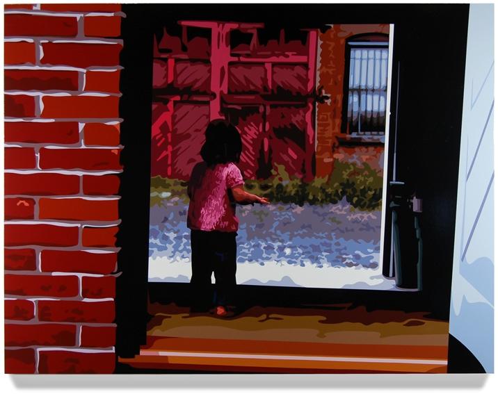 Jackie Wanders,2008, 45x 60, Oil enamel on canvas