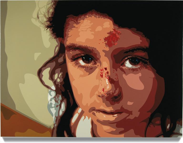Girl,2007, 45x 60, Oil enamel oncanvas