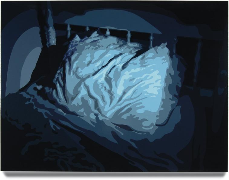 Bed,2007, 45x 60, Oil enamel oncanvas