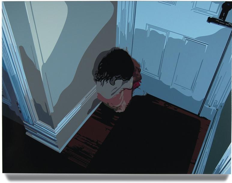 Girl in Corner,2007, 45x 60, Oil enamel oncanvas