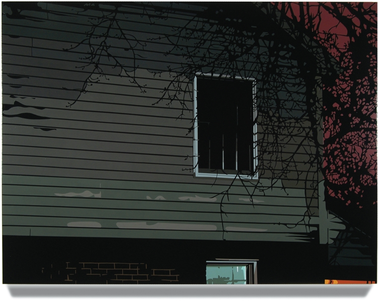 Side of House,2007, 45x 60, Oil enamel oncanvas