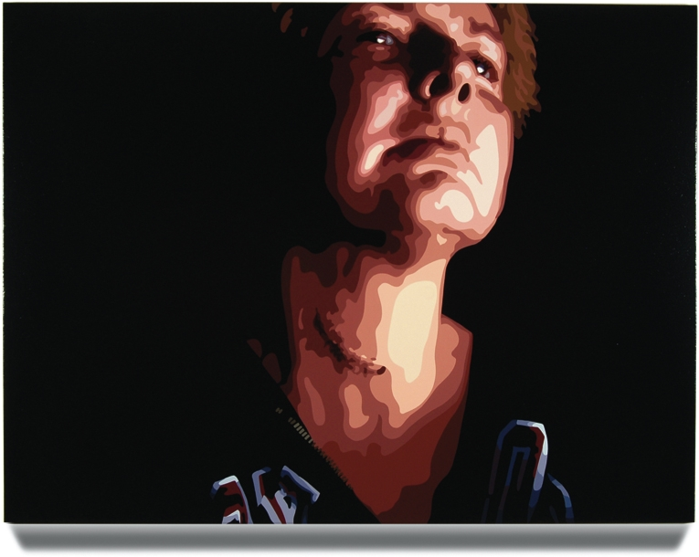 Scar,2007, 45x 60, Oil enamel oncanvas