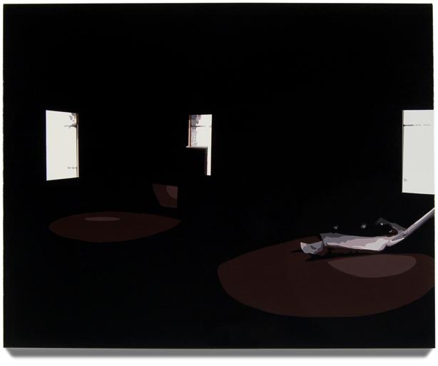 Room in Detroit,2007, 16x 20, Oil enamel oncanvas