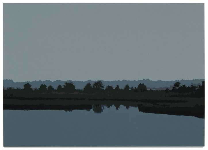 Marsh,2007, 19x 27, Oil enamel oncanvas