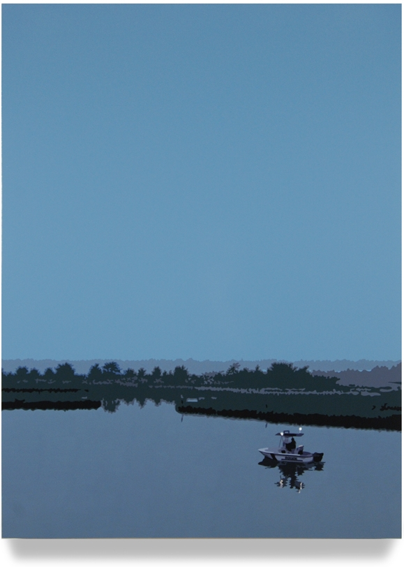 Inlet,2006, 43x 32, Oil enamel oncanvas