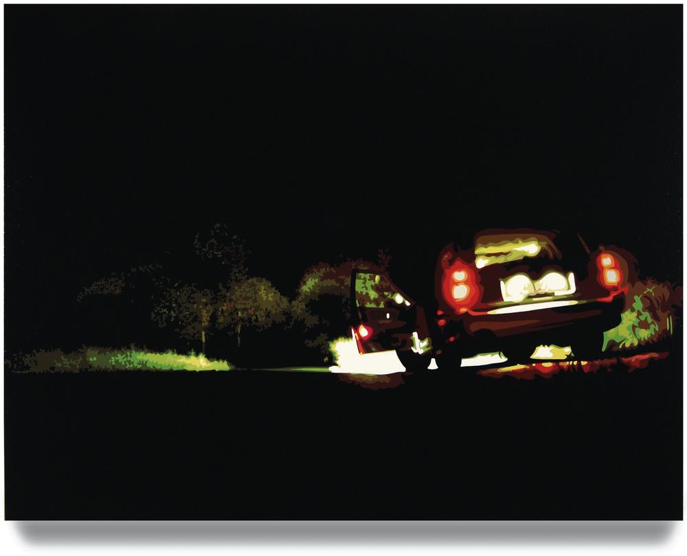 Open Road,2006, 45x 60, Oil enamel oncanvas