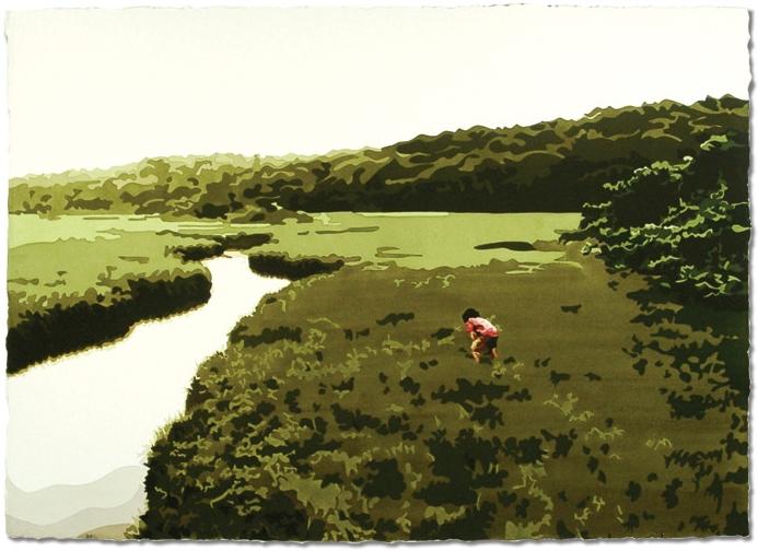Menemsha Bog,2006, 29 x 41, Watercolor on paper