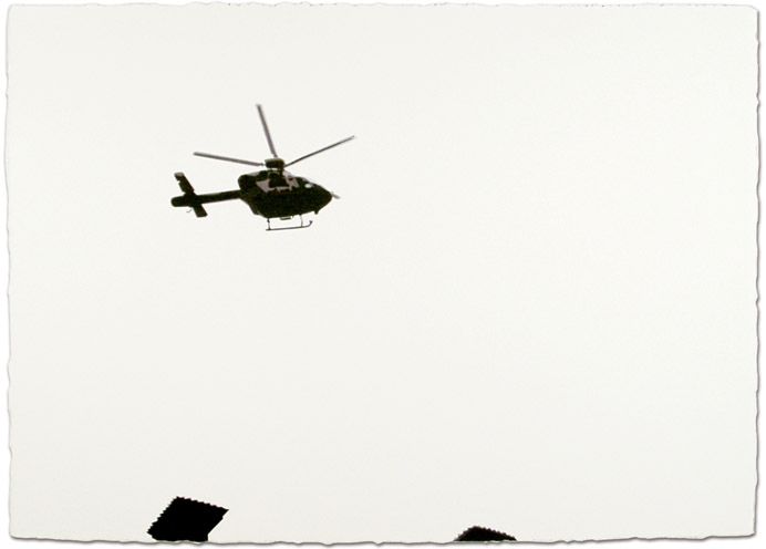 Helicopter,2006, 29 x 41, Watercolor on paper