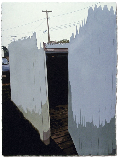 Dumpster,2006, 30.25 x 22.5, Watercolor on paper