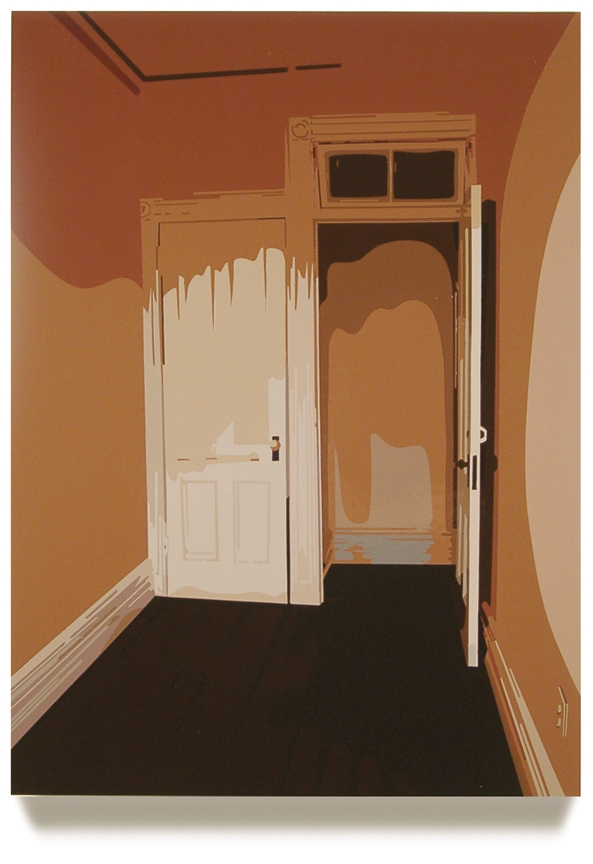The Room Upstairs, 2005, 29.75 x 21.5, Oil Enamel on Resin Paper