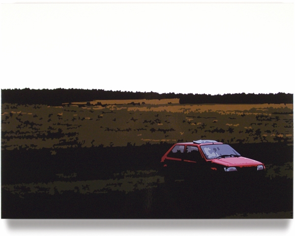 Red Car, 2004, 45 x 60, Oil Enamel on Canvas