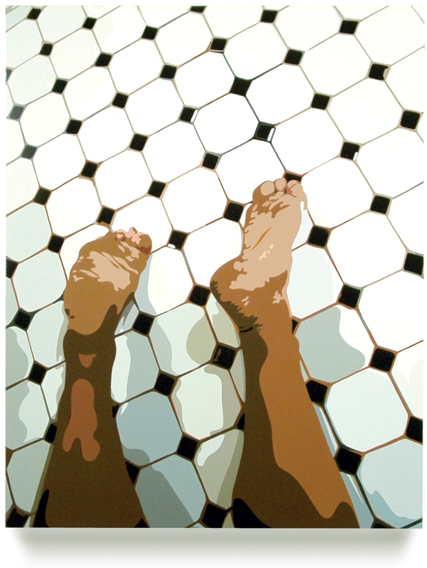 Feet, 2004, 30 x 24, Oil Enamel on Canvas