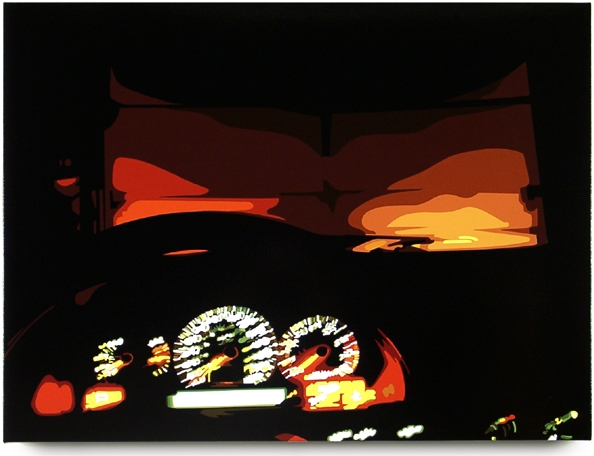 Dashboard, 2003, 45 x 60, Oil Enamel on Canvas