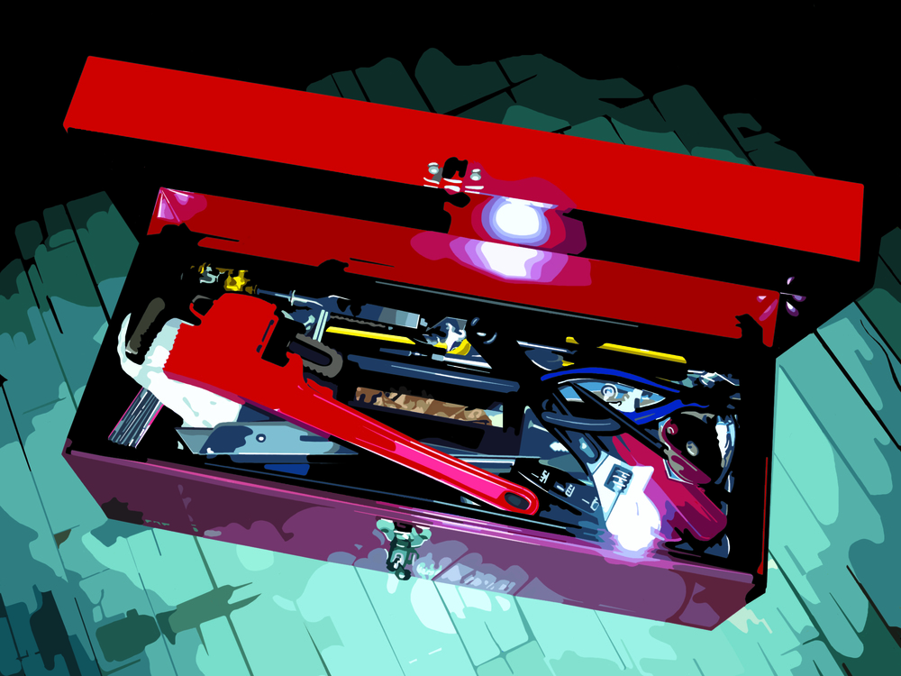 Mr. Green's Toolbox (wrench), 2003, 9 x 12, Digital C-print