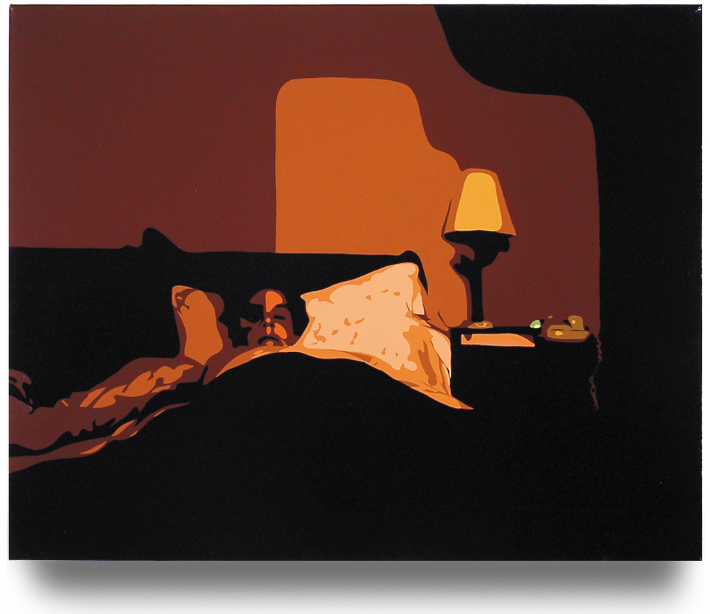 Sleeping Wife   ,   2002, 24 x 30, Oil Enamel on Canvas