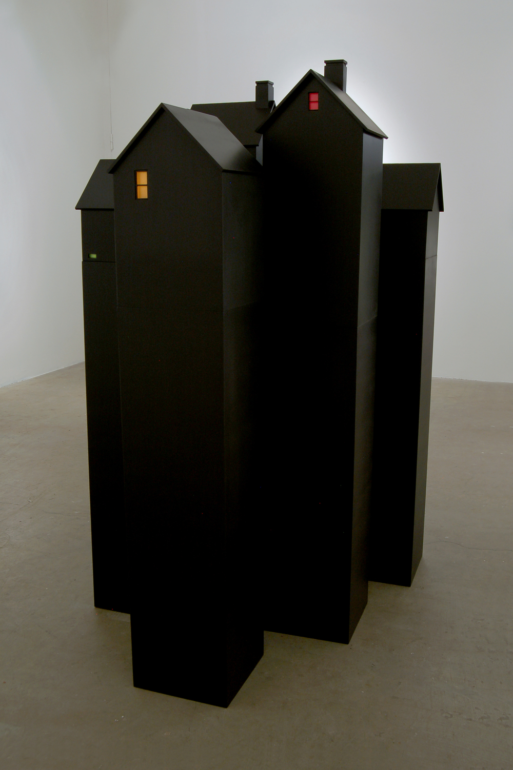 Houses at Night, Installation View