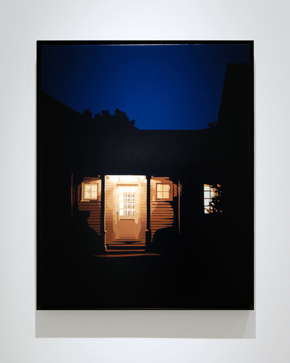 "House at Night, 2015, 30"" x 24"", Oil on Canvas"