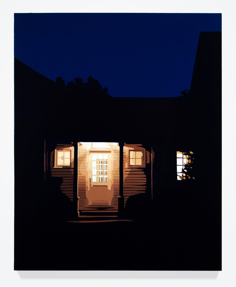 "House at Night VIII (Washington, CT), 30"" x 24"", Oil on linen"