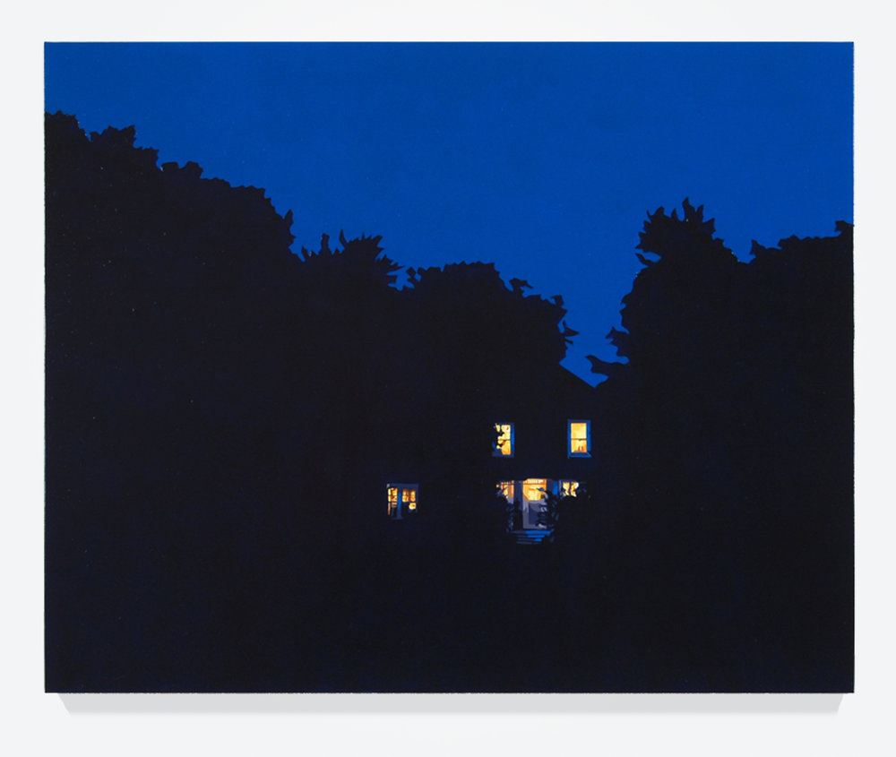 "House at Night XI (Arlington, VA), 24"" x 30"", Oil on linen"