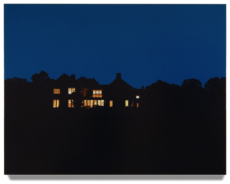 "House at Night IV (Washington,CT), 2013, 40"" x 52"", Oil on linen"