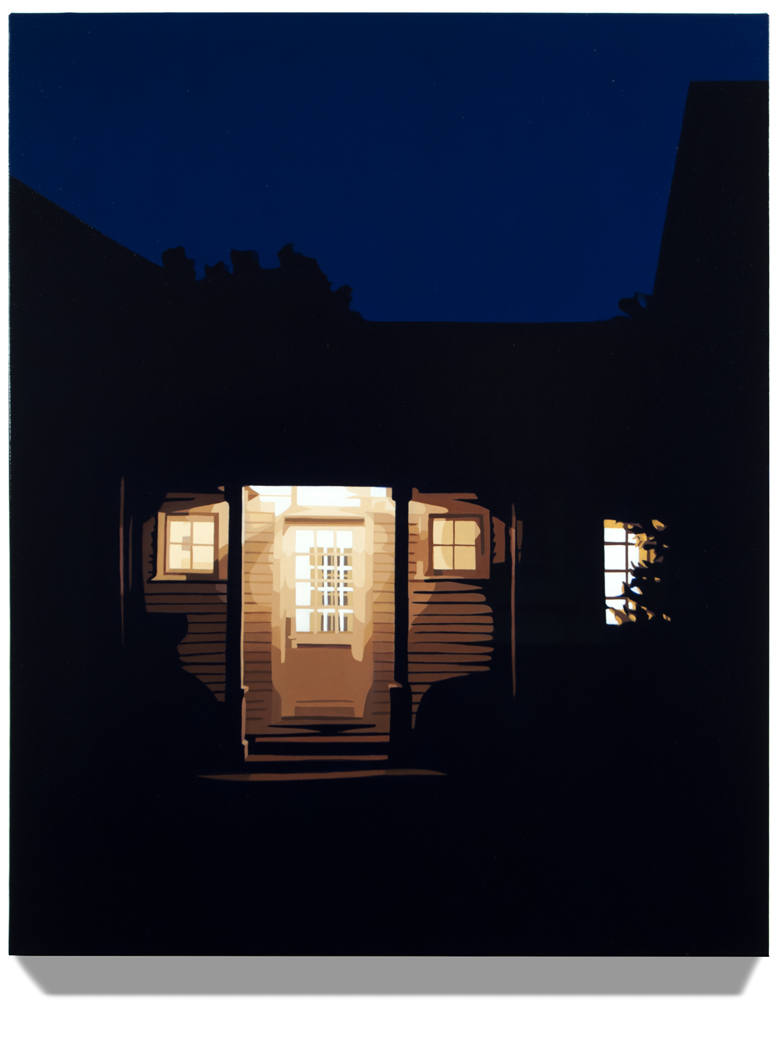 "House at Night VIII (Washington,CT), 2015, 30"" x 24"", Oil on linen"