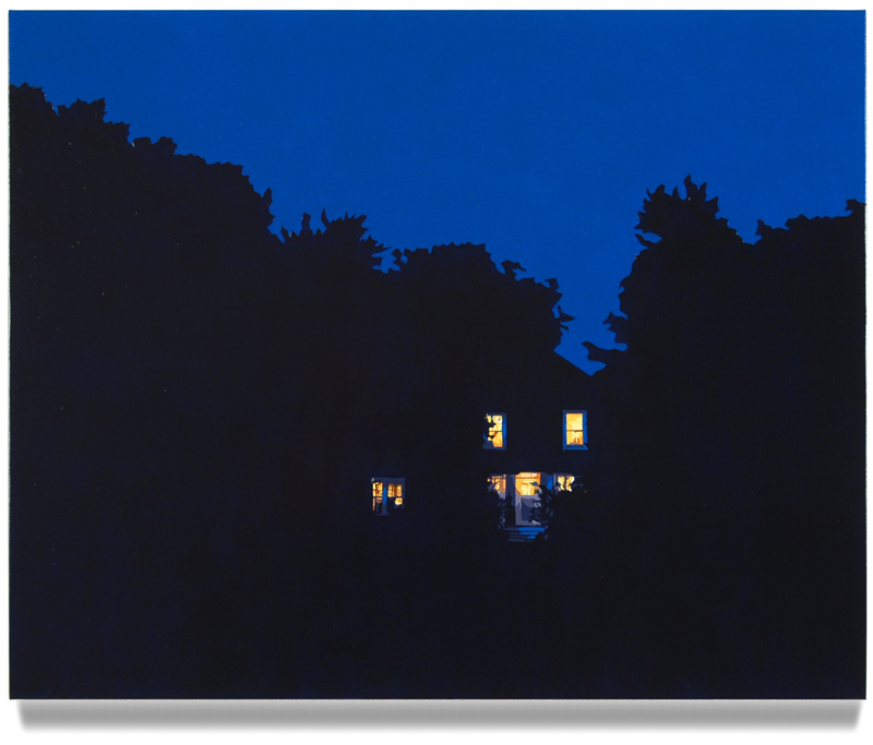 "House at Night XI (Arlington, VA), 2015, 24"" x 30"", Oil on linen"
