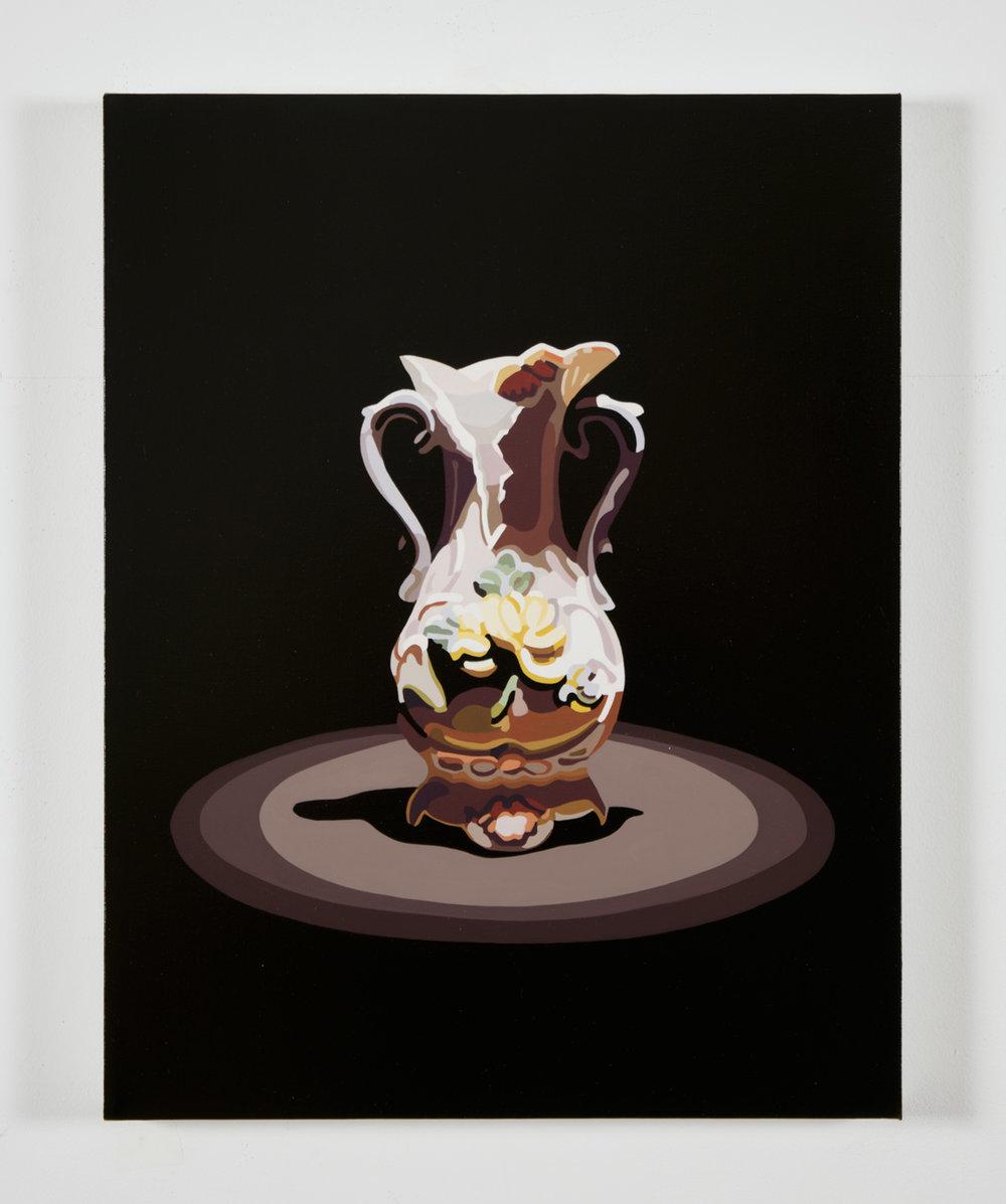 """Relics (vase), 18"""" x 14"""", oil on linen,  30 sec AR"""