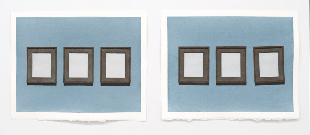 "Doug No. 1  , 11"" x 14"" ea. diptych, watercolor on paper"