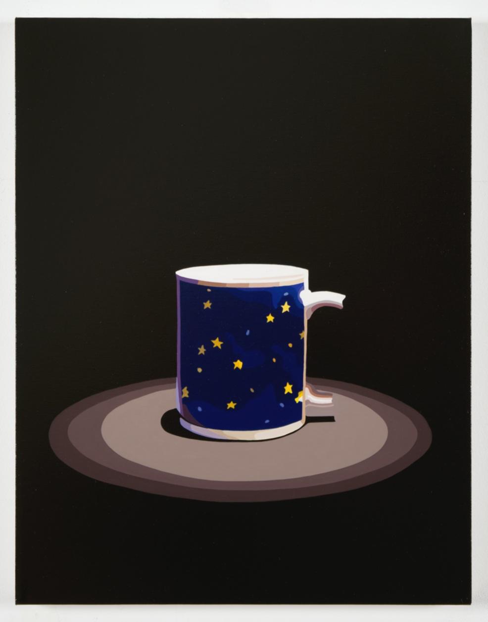 "Relics  (mug). 2017, 18"" x 14"", oil on linen, (AR component below)"