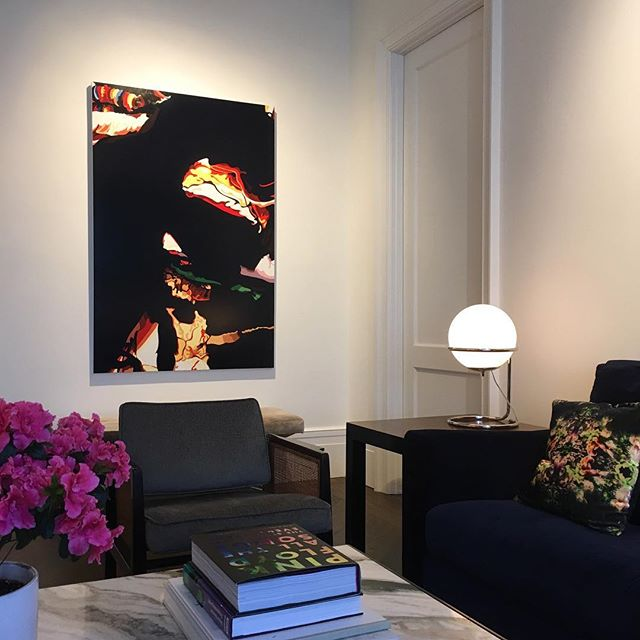 """Ed No. 1 installed. Oil on linen 38"""" x 60"""". #artinthehome"""
