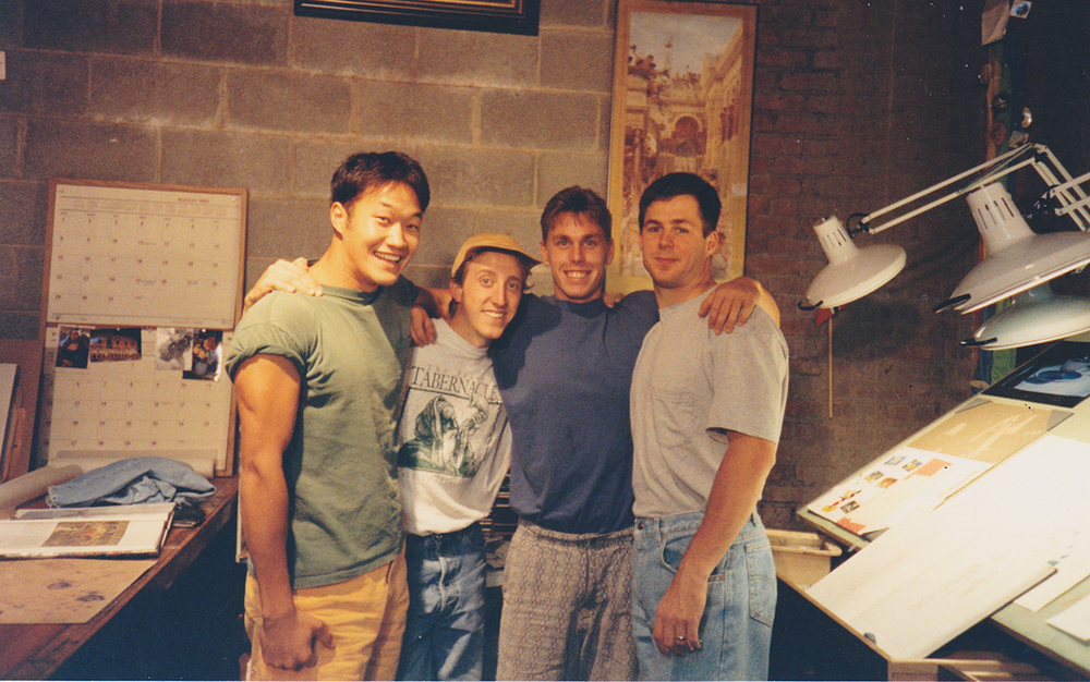 Davy Liu, Todd Bright, James Finch and Travis Foster, 1992.