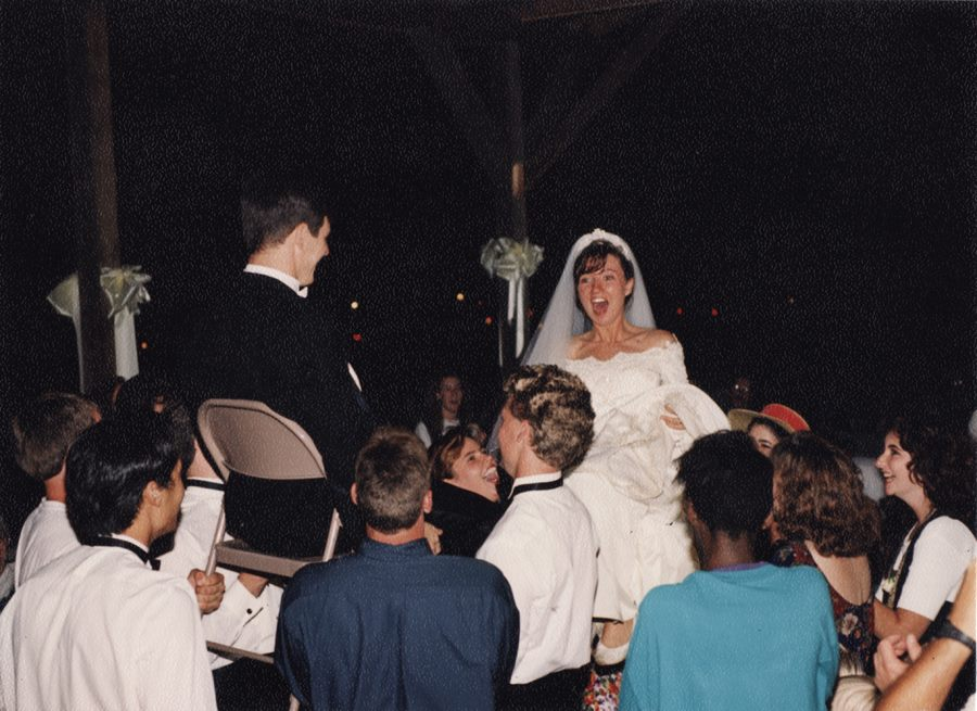 Travis and Sarah's wedding day. 1992. Nashville, Tennessee