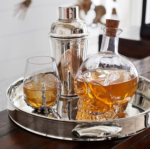 Skull Decanter $39.50 at  Pottery Barn