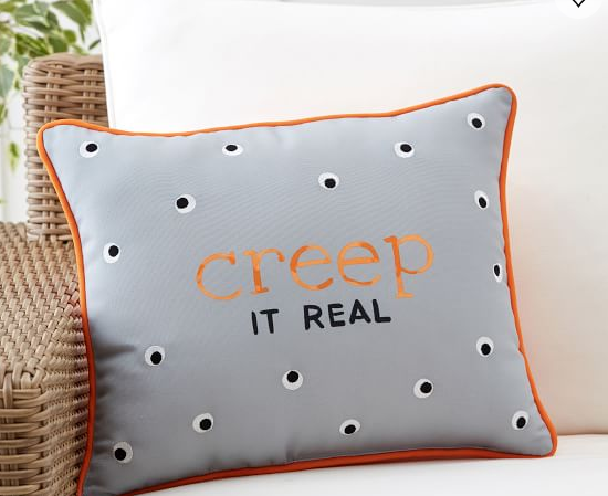Creep It Real (so cute) Pillow at  Pottery Barn