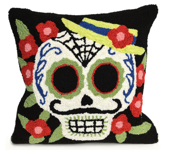 Mr. Muerto pillow $37.99 at Wayfair (they have tons!)