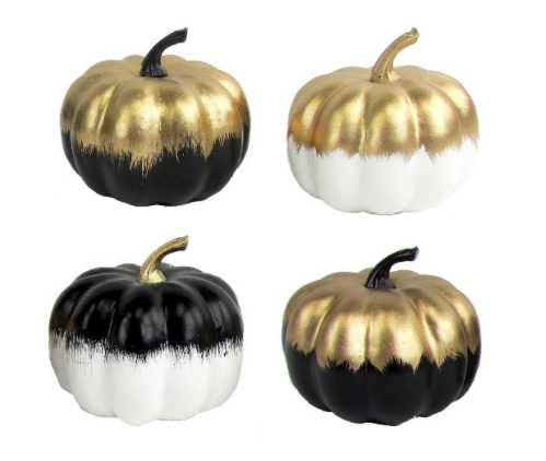 Set of four mini pumpkins $9 at  Target