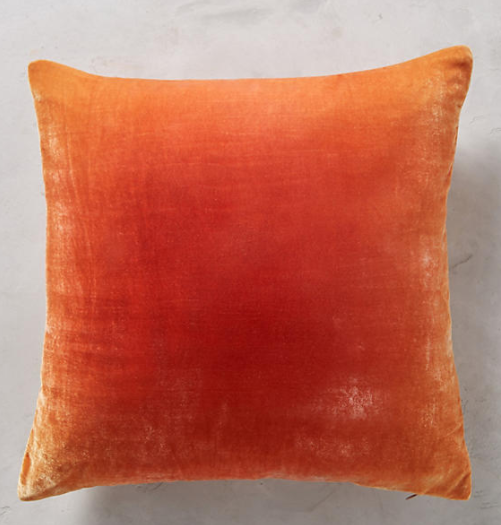 This color is just so luscious - I could drink it up! Kevin O'Brien Velvet Ombre Pillow $268 from  Anthropologie