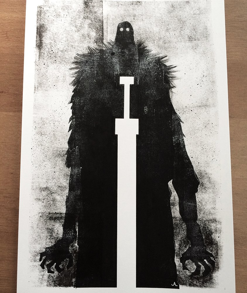 Original black/white painting for RUMBLE.