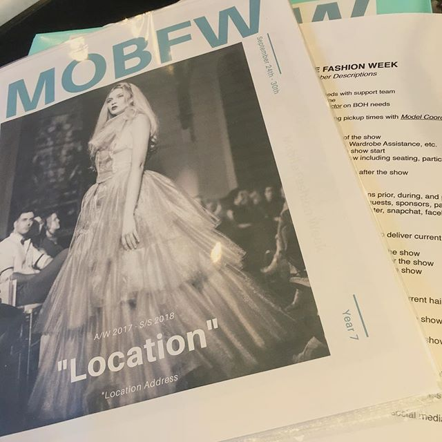 Meeting! Already getting ready for #MOBFW17 #Year7 #MOBFW