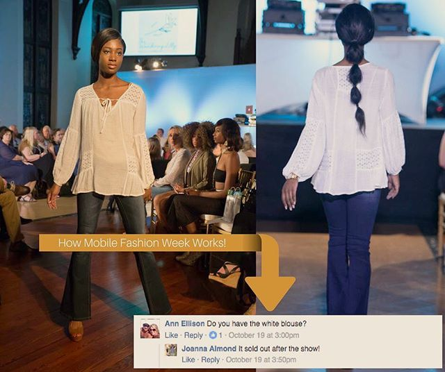 On top of donating to Camp Rap-A-Hope; we pride ourselves in knowing current trends and what will sell on the runway! So we love seeing comments and responses like this! The only way to keep the industry moving and growing in Mobile and along the Gulf Coast is to present the right trends on the runway that make guests want to BUY!  Join the continuing movement/energy and be on the list for #MOBFW2017 - email us at info@mobfashionweek.com
