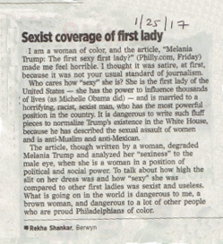 letter to the editor, philadelphia inquirer.  ya girl holds her press accountable!